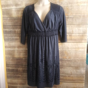 Just My Size blue knit dress size 2XL 18/20